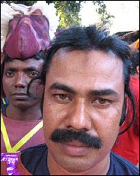 Convict-actors in prison theatre in Bengal, India