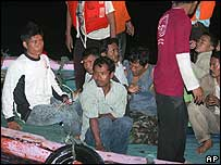 Indonesia ferry survivors