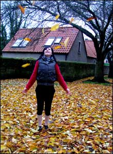 Fiona Henry with leaves
