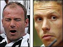 Alan Shearer and Craigh Bellamy