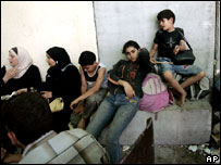 Palestinians stranded at the Erez crossing