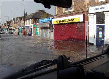 Flooding in Portishead