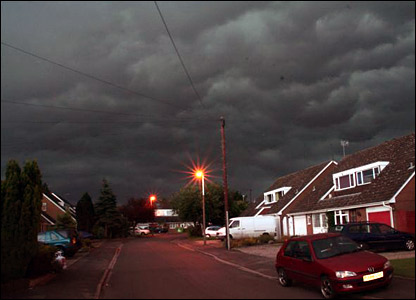 Storm clouds over Stourbridge