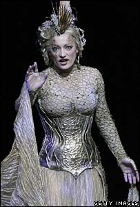 Laura Michelle Kelly as Galadriel in the Lord of the Rings musical