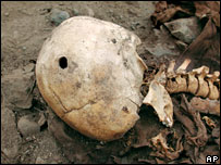 The skull of the first documented gunshot victim in the New World