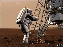 Artist's concept of Mars mission (Esa)
