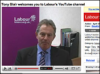 Tony Blair on YouTube, Google