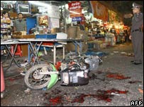 Site of blast in Bangkok