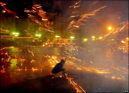 Fireworks in Warsaw
