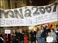 Demonstration against 2007 in Nantes
