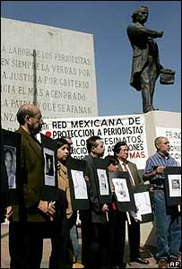 Manifestación en México en diciembre 2006
