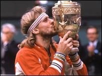 Bjorn Borg wins his last Wimbledon title in 1980