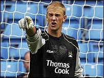 City goalkeeper Joe Hart