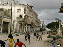 Street in Mogadishu
