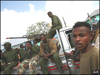 A soldier from the Somali transitional government forces