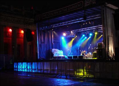 Deserted stage