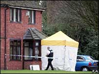 Scene of the fatal attack in Knowles House Avenue