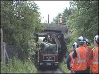 Scene of Plawsworth crash