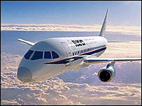 Sukhoi plane