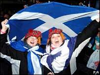 Revellers in Aberdeen