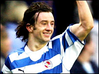 Stephen Hunt of Reading celebrates his goal