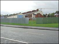A metal perimeter fence has been put around the Annadale bonfire site