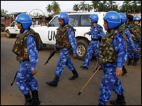 Indian female peacekeeping force