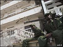 Somali government soldiers in Mogadishu