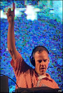 Fatboy Slim, aka Norman Cook, at the Big Beach Boutique 3 gig in Brighton