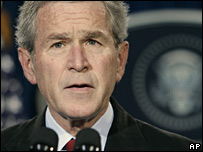 US President George W Bush