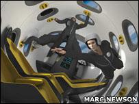 Astrium space jet concept (© Marc Newson Limited 2007)