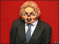 Margaret Thatcher puppet