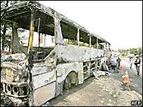 Bus incendiado en R�o de Janeiro