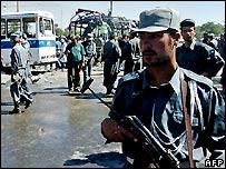 Afghan policeman in Kabul - 17/6/2007