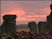 The solstice sun rise