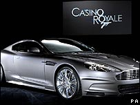 The Aston Martin DBS used in Casino Royale