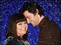 Dawn French's Reverend Geraldine Granger with Harry, played by Richard Armitage