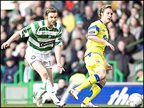 Steven Pressley in action against Kilmarnock