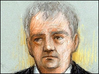 Artist's impression of Steven Wright in court (Picture Elizabeth Cook/PA Wire)