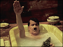 Adolf Hitler in the bath in the film Mein Fuehrer