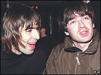Oasis in 1996