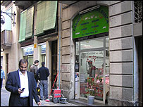A shop in the Raval district, an immigrant neighbourhood in Barcelona's medieval quarter