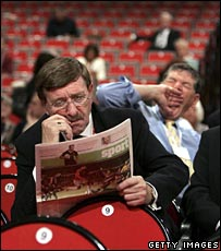 Bored-looking delegates at Labour conference 2005
