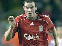 Liverpool midfielder Danny Guthrie