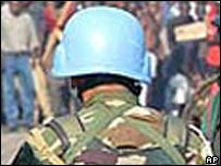 File image of a UN peacekeeper in DR Congo