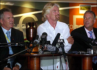 Former Australia captain Allan Border, Virgin boss Richard Branson and former England captain Ian Botham