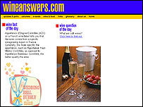 Wineanswers.com website