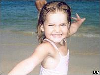 Ellie Lawrenson on a beach