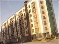 New apartment blocks outside Kabul
