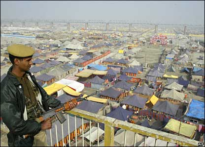 Camp at the Ardh Kumbh Mela in Allahabad